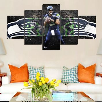 New 5 Pieces/sets Canvas Art Canvas Paintings HD Seattle Seahawks Kearse Decorations For Home Wall Art Prints Canvas\C-786