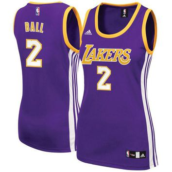 Women's Los Angeles Lakers Lonzo Ball adidas Purple Away Replica Jersey