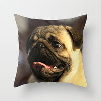Noodle Throw Pillow by Veronica Ventress