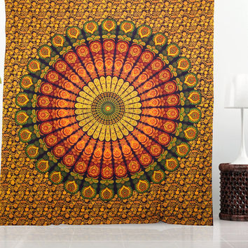 Large Wall Tapestry Mandala Hippie Bedding Indian Tapestries Block Print Table Cloth Beach Tapestry Ceiling Stylish Wall Decor Bohemian