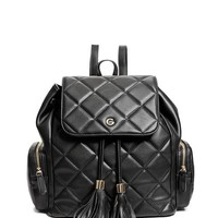 Audrey Quilted Backpack at Guess