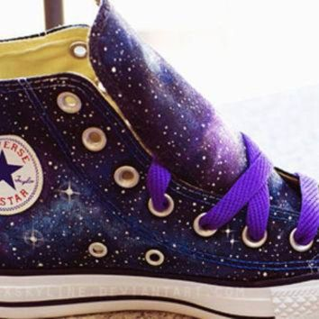 ESBONB Galaxy Converse Sneakers Hand Painted Low Top