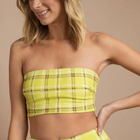 I.Am.Gia Polaris Plaid Bandeau Top