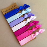 The Linea Hair Tie-Ponytail Holder Collection - 7 Elastic Hair Ties by Elastic Hair Bandz on Etsy