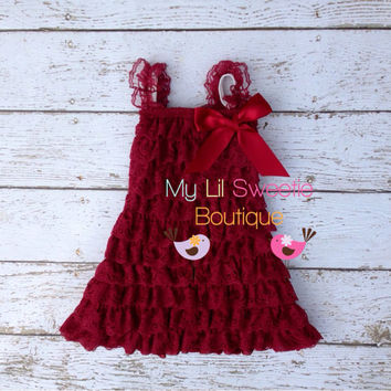 Burgundy wine dress, newborn dress, Lace dress, baby girl outfit, infant outfit, special occasion dress, toddler dress, girls dress,