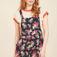 Excite All Day Romper in Navy Blossom