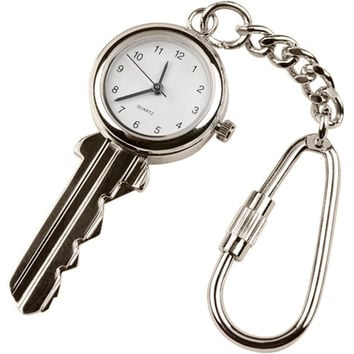 Hampton Direct Key Shaped Analog Watch Doubled with a Key Chain