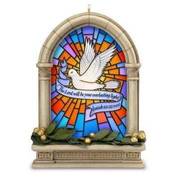 Everlasting Light Stained Glass Window Ornament