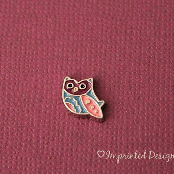 Owl Floating Charm / Glass Locket Charm / Owl / Memory Locket Charm