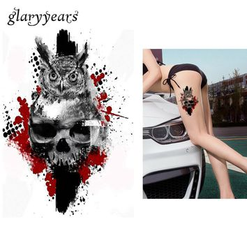 Beauty & Health Body Arm Sleeve Adhesive Fake Henna Tattoo Keep You Fit All The Time Temporary Tattoos 1pc Makeup Old Clock Temporary Tattoo Stickers Death Skull Punk Rose Tattoo For Men