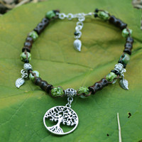 Handmade Tree of Life Anklet