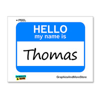 Thomas Hello My Name Is Sticker