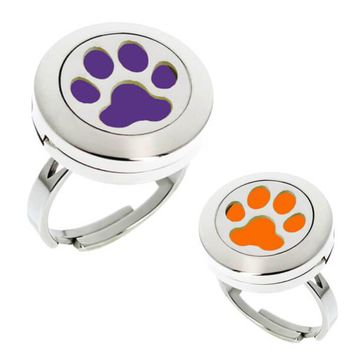 Paw Print Essential Oil Diffuser Ring (perfect for Clemson Tigers fans)