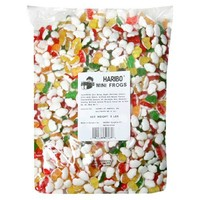 Haribo Gummy Candy, Mini Frogs, 5-Pound Bag