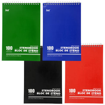 Bulk Spiral-Bound Steno Books, 6x9 in. at DollarTree.com