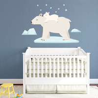 Polar Bears Printed Wall Decal