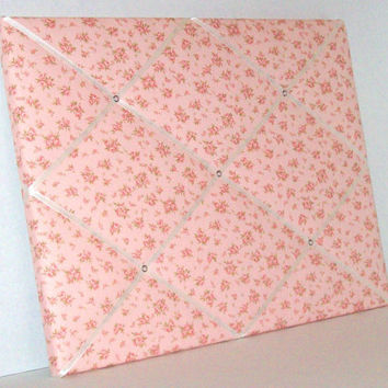 Shabby Chic PInk Petite Roses ~ French Memo Board by ToileChicBoutique