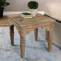 Uttermost Khristian Reclaimed Wood End Table