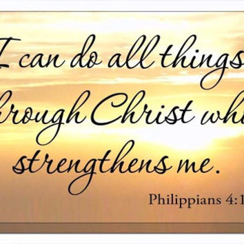 I Can Do All Things Through Christ Canvas Print Wall Art Graphics GJZ5