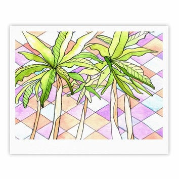 "Rosie Brown ""Geometric Tropic"" Pink Green Fine Art Gallery Print"