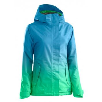 Under Armour Women's Coldgear Infrared Fader Jacket (Crown Jewel/Chlorophyll/Crown Jewel) Snowboard Jackets Women's Jackets