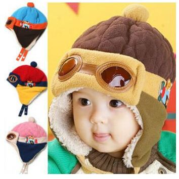 4colors Hot Kids Child Baby Winter Pilot Cap gorro Toddlers Aviator Earmuff Protect Beanie Hat hats for children