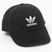 adidas Washed Black Strapback Dad Hat at PacSun.com