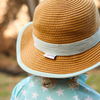 Mint Chip Wide Brim Kids Sun Hat