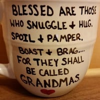Coffee/Cup/Mug/Custom/Personalized//Dishwasher safe/Blessed Grandma/Grandparent's Day