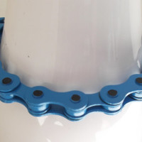 Blue Bike Chain Bracelet - unique gift for her, cool, for men, for mom, children, gifts for teens, boyfriend