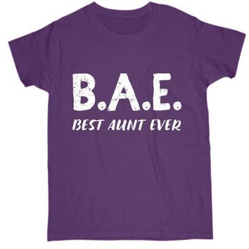 08ae14c60 Funny Gift For Aunt Womens T Shirt Best Aunt Ever Cotton Tee
