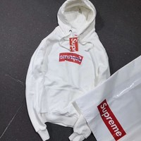 Supreme CDG Woman Men Fashion Hooded Top Sweater Pullover Hoodie
