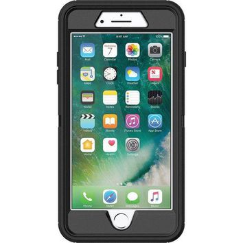 DCK4S2 OtterBox DEFENDER SERIES Case for iPhone 8 & iPhone 7 (NOT Plus) - Retail Packaging - BLACK