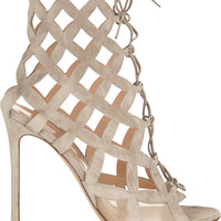 Gianvito Rossi - Cutout suede sandals