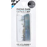 River Island MensBlack London holographic iPhone 5 case