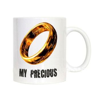 my precious mugs the lord of the rings coffee mug ceramic novelty porcelain beer tea cups home decal kitchen drinkware