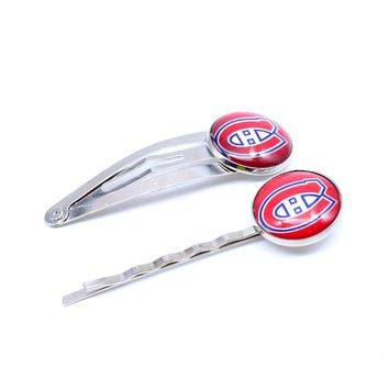 NHL Montreal Canadiens Charm Women Hairpin Girls Hair Grips Kids Hair Clips Accessories Ice Hockey Jewelry Fashion 2017