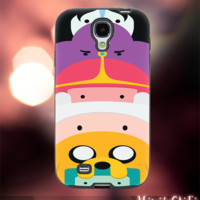 MC2810Y,15,Adventure Time,Jake and Finn,Marceline-Accessories case cellphone-Design for Samsung Galaxy S5- Black case -Material Soft Rubber