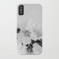Black And White Blossoms iPhone Case by ARTbyJWP