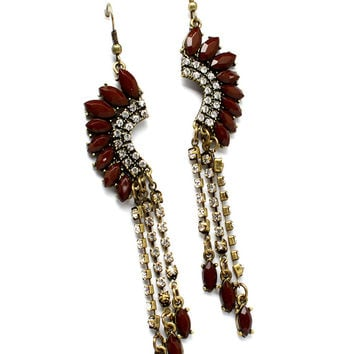 Bead Teardrop Earrings