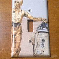 Star Wars R2-D2 and C-3PO light switch cover
