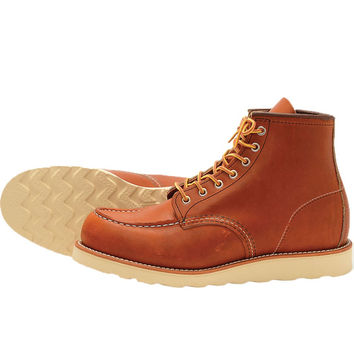 Red Wing 875 Heritage Work Moc Toe Boot - Light brown