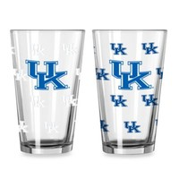 University of Kentucky Color Changing 16-Ounce Pint Glasses (Set of 2)