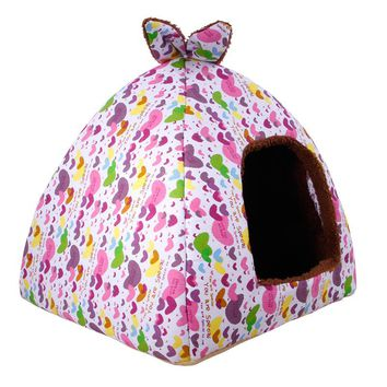 Dog House Folding Soft Warm Cave Dog Bed Mat Washable Pet Dog House Bed For Small Medium Dogs