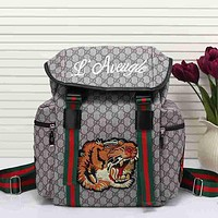 Gucci Women Men Leather Shoulder Bag Travel Bag Backpack