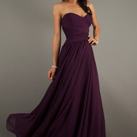 Floor Length Strapless Mori Lee Gown
