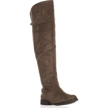 AR35 Adarra Wide Calf Over The Knee Boots, Truffle, 8.5 US