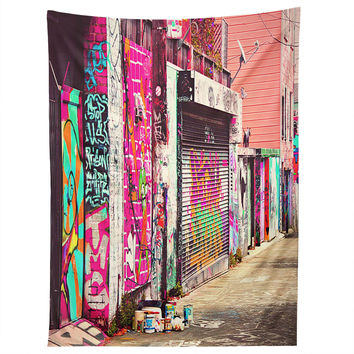 Shannon Clark Paint It Pink Tapestry