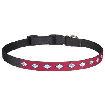 Patriotic dog collar with Flag of Arkansas State