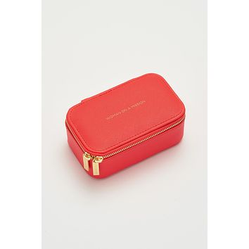 Mini Jewelry Box - Woman On A Mission - Coral